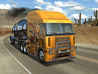 Animierter 3D Bildschirmschoner mit typischen amerikanischen Trucks.