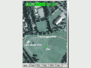 Aufzeichnen von Tracking- und Wegepunkten. Navigation zu Koordinaten.