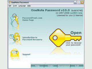 OneNote Password ermöglicht die Wiederherstellung von OneNote Passwörtern.