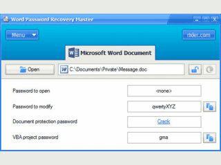 Entfernt die Passwörter von MS Word Dateien der Versionen 97 bis 2003