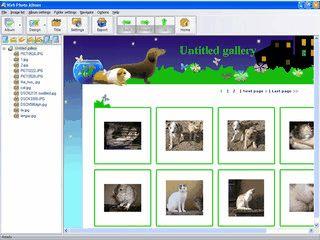 Erstellung von Web-Gallieren mit zur Zeit 7 Templates.