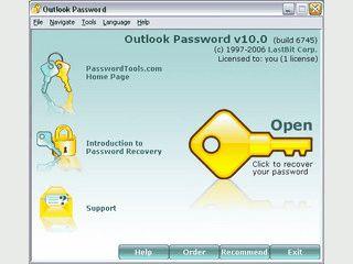 Password-Recovery für MS Outlook PST und OST Dateien.