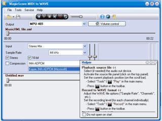 Konvertierung von MIDI-Dateien in WAV oder MusicXML