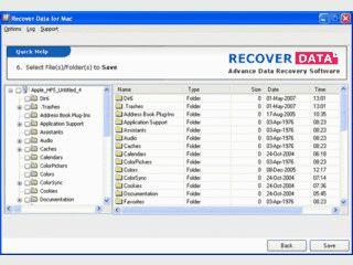 Windows-Software zur Datenrettung von Daten auf MAC-Partitionen.