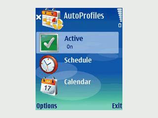 Automatischer Wechsel des Profils mit Hilfe eingetragener Termine im Kalender.