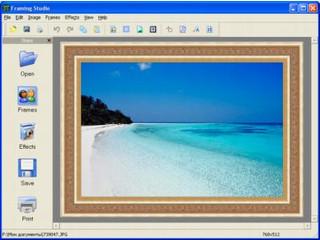 Einfaches Tool um Bildern einen digitalen Rahmen hinzu zu fügen.