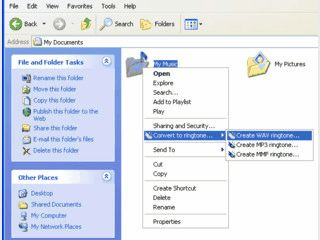 Einfachste Konvertierung von Audio-Dateien in Klingeltöne.