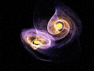 Software zur Simulation wechselwirkender Galaxien.