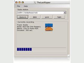 Audio-Daten bei last.fm mitschneiden und als MP3 Datei speichern.