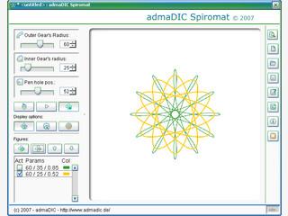 Virtuelle Umsetzung eines bekannten Malspielzeug. Zeichnet Hypotrochoide.