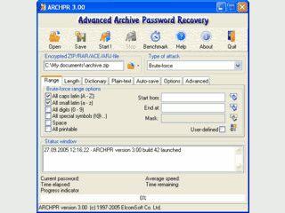 Passwörter aus Archivdateien  ZIP, PKZip, ARJ, RAR, und ACE auslesen.