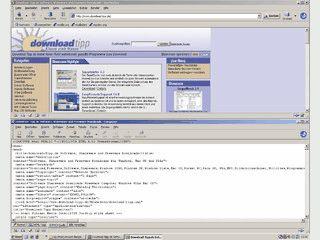 Internetsuite mit Browser, Email- und NewsClient sowie HTML-Editor und Chat.