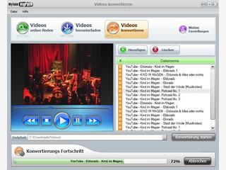 Videos bei verschiedenen Videoportalen suchen und downloaden.