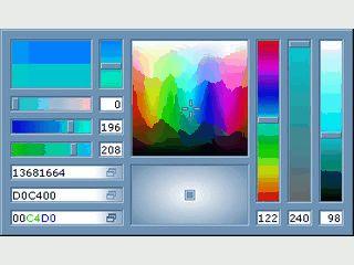 Komfortabler und umfangreicher Farbwähler für Webdesigner, Grafiker usw.