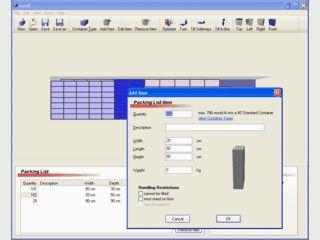 Optimierung von Frachtkosten durch optimale Platzierung der Ladung im Container.
