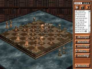 Schachspiel mit gelungener, animierter 3D Grafik.