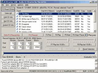 ACXtractor ist der schnelle, professionelle und benutzerfreundliche CD Ripper.