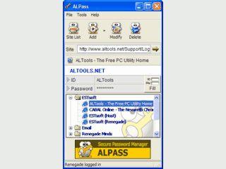Einfache Software zur Verwaltung von Passwörtern aus Webformularen.