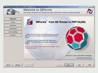 Konvertiert eine MS Access Datenbank in PHP-Webseiten mit AJAX-Funktionen