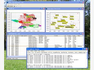 Datenbank mit Geodaten für D-A-CH sowie Belgien.