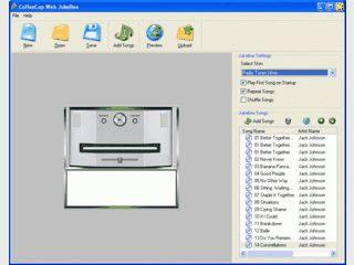 Erstellt eine MP3 Jukebox die Sie in Ihre Homepage einbinden können.