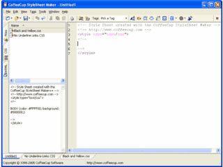 StyleSheet Maker ermöglicht die übersichtliche Erstellung von CSS Dateien.
