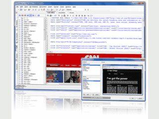 HTML-Editor mit Drag'n Drop Funktion und nützlichen Assistenten.