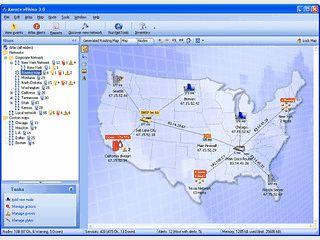 Host-Mapping und Überwachung mit Alarmfunktion und Effizienzberichten.
