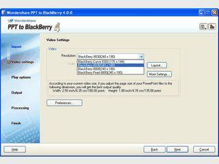 Konvertertiert MS PowerPoint Präsentationen für den Blackberry.