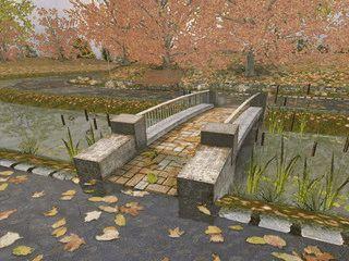 Eine animierte Herbstlandschaft mit fallenden Blättern usw. als Screensaver.