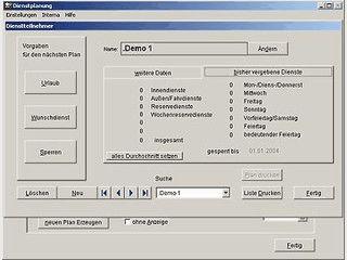 Software zur gerechten Verteilung von Diensten