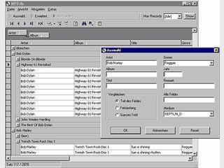 Datenbank zur Verwaltung von MP3 Dateien mit Suchmöglichkeiten.