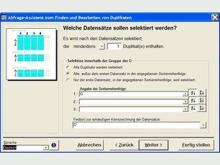 Duplikate in MS Access Datenbanken finden und entfernen.