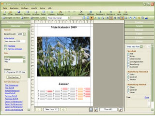 56  verschiedene Kalender können Sie mit diesem kleinen Programm erstellen.