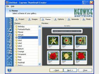 Automatische Erstellung von Gallerien aus Ihren Bildern mit Thumbnail-Vorschau.