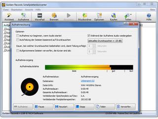 Software zur Digitalisierung von Schallplatten mit Brennfunktion.