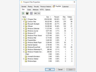 Informationen und Konfiguration für Laufwerke via Kontextmenü.