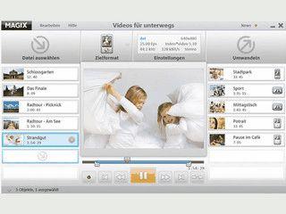 Videos, Fotos und Musik für mobile Endgeräte konvertieren.
