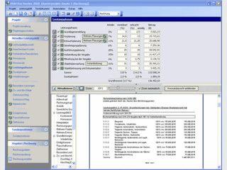 Software zur Honorarabrechnung nach HOAI inkl. Kostenermittlung nach DIN 276.
