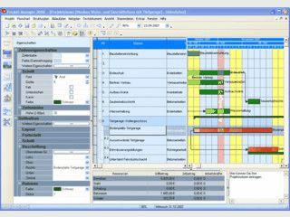 Software für Projektmanagement und Bauablaufplanung inkl. Ressourcenplanung