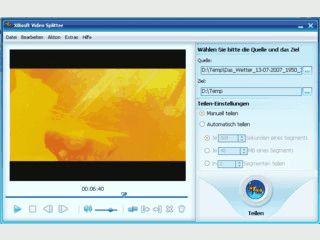 Tool mit dem Sie Videodateien splitten können.