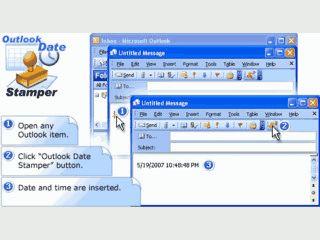 Fügt Datum und Uhrzeit per Mausklick in Emails, Kontakte, Termine usw. ein.