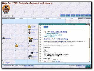Automatisch einen Terminkalender als HTML Seite erstellen.