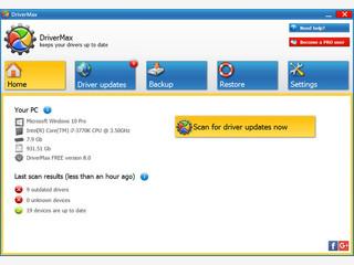 Aktualisierung, Backup und Wiederherstellung von installierter Treibersoftware.