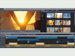 Umfangreiche Videobearbeitung mit praktischen Assistenten und vielen Vorlagen.