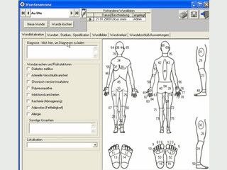 Software zur Verwaltung von Daten bei Wundpatienten.