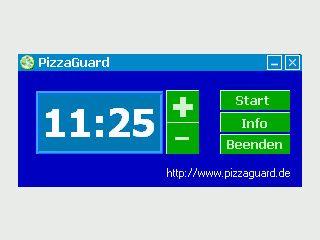 Kleiner Timer der Ihnen helfen soll, Ihre Pizza-Zubereitsungszeit zu beachten.