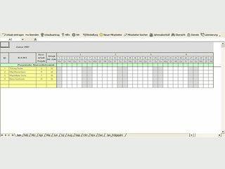 Urlaubs- und Fehlzeitenplaner für Excel mit eigenen Einstellungsmöglichkeiten