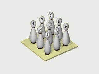 Bildschirmschoner mit animierten Kegeln