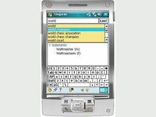 Wörterbuch Englisch - Deutsch für PDAs.